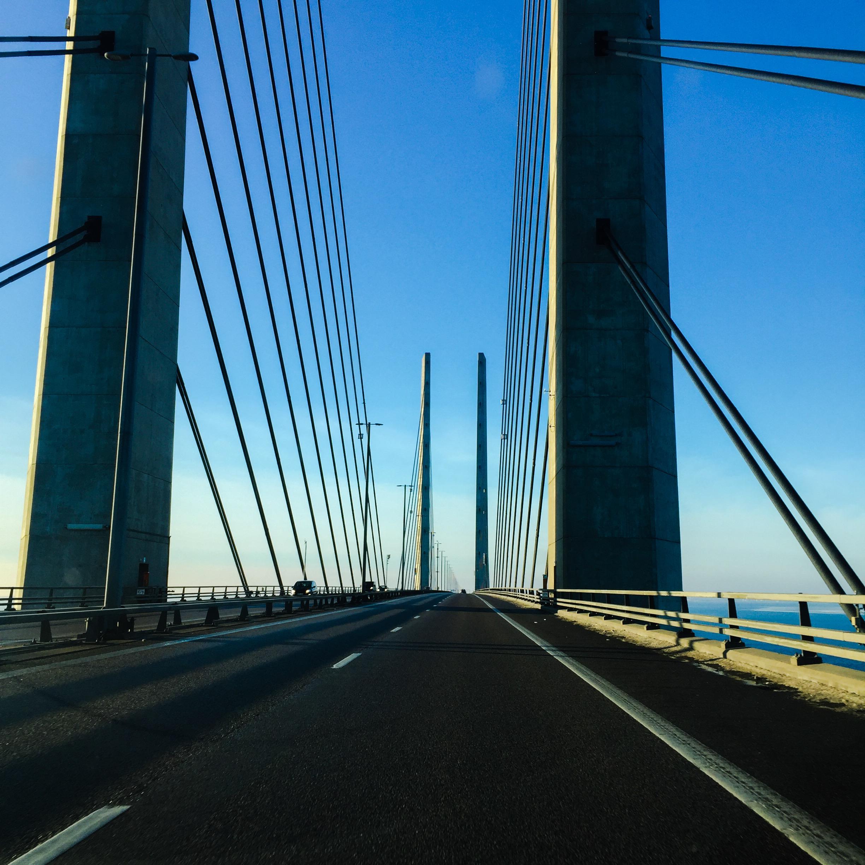 På vej til Ystad Saltsjöbad i Sverige.